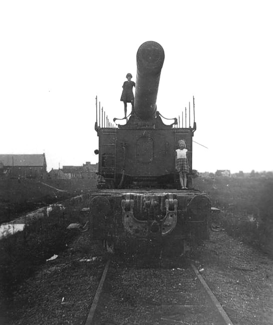 Retreat, Railway guns