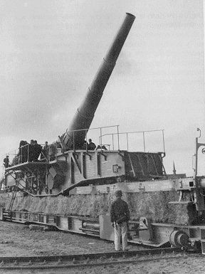 Lange Bruno, Railway guns